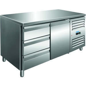 SARO Kühltisch inkl. 3er Schubladenset Modell KYLJA 2130 TN