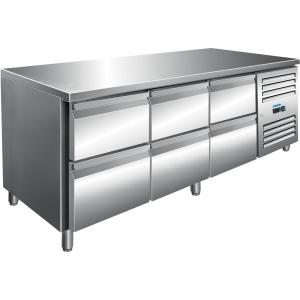 SARO Kühltisch inkl. 3 x 2er Schubladenset Modell KYLJA 3160 TN