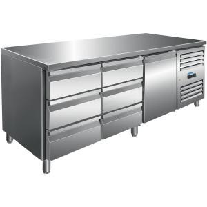 SARO Kühltisch inkl. 2 x 3er Schubladenset Modell KYLJA 3150 TN