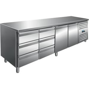 SARO Kühltisch inkl. 2 x 3er Schubladenset Modell KYLJA 4150 TN
