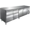 SARO Kühltisch inkl. 2 x 3er Schubladenset Modell...