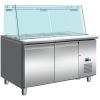 SARO Kühltisch mit Glasaufsatz Modell SG 2070