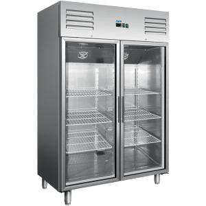 SARO Saro Kühlschrank mit Umluftventilator Modell GN 1200 TNG mit 2 Glastüren, 1173-Liter