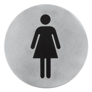 Türsymbol -Damen- Edelstahl mat