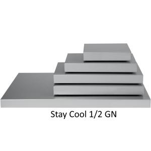 SARO Kühl-Servierplatte Modell STAY COOL 1/2 GN anode. Aluminium