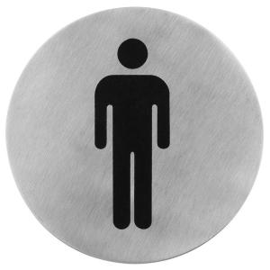Türsymbol -Herren- Edelsthl mat