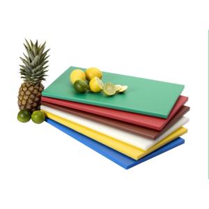 SARO HACCP-Polyethylen-Schneidebrett  50x30x1,5 cm,  rutschhemmende Füße, grün
