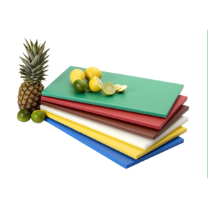 SARO HACCP-Polyethylen-Schneidebrett  50x30x1,5 cm,  rutschhemmende Füße, gelb