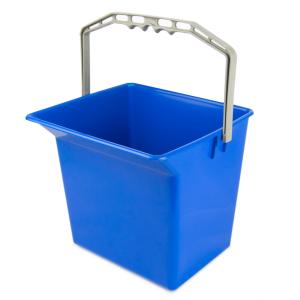 Kunststoffeimer 6 Liter blau für Reinigungswagen mit Literskala