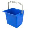 Kunststoffeimer 6 Liter blau für Reinigungswagen mit...