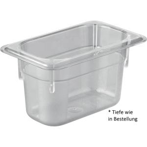 Gastronormbehälter Polycarbonat 1/9 GN 100 mm tief