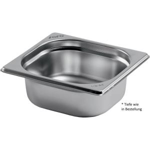 Gastronormbehälter Edelstahl 1/6 GN 100 mm tief