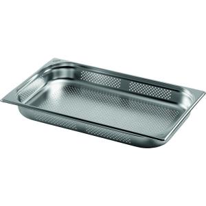 Gastronormbehälter Edelstahl perforiert 1/1 GN 65 mm tief