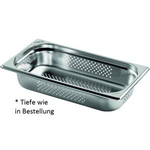 Gastronormbehälter Edelstahl perforiert 1/3 GN 65 mm tief