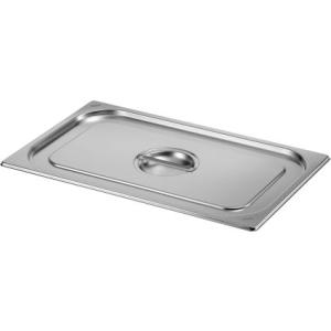 Saro Gastronormdeckel ohne Löffelaussparung 2/4 GN Edelstahl