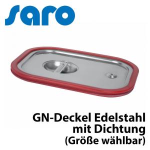 Saro Gastronormdeckel ohne Löffelaussparung mit Dichtung 1/1 GN Edelstahl