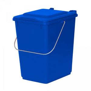 Abfallbehälter 10-Ltr. mit Tragegriff blau
