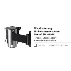 Wandhalterung für Personenleitsystem PW2/PW3 Absperrband
