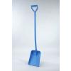 Kunststoffschaufel, kleines Blatt langer Stiel, blau