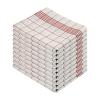 Geschirrtuch HL rot/weiß 50x70cm VE=10 Stück