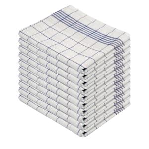 Geschirrtuch HL blau/weiß 50x70cm VE=10 Stück