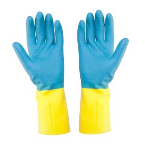 Bicolor-Handschuh, gelb/blau Gr. 8/M