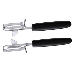 Pendelschäler 17,5 cm für Rechtshänder mit schwarzem PA-Griff
