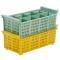 Besteckspülkorb 8 Fächer für Spülmaschinen, gelb