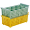 Besteckspülkorb 8 Fächer für Spülmaschinen, grün