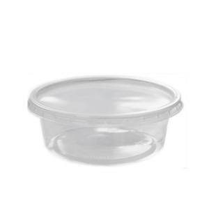 Verpackungs-Becher mit Deckel 200 ml rund transparent PP VE= 50 Stück